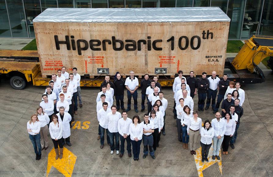 El equipo humano de Hiperbaric
