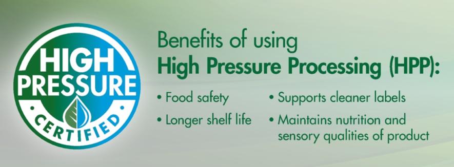 Beneficios de usar el procesado por altas presiones
