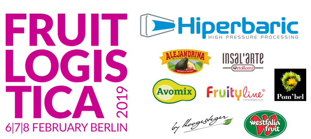 Hiperbaric and their customers attending Fruit Logistica 2019