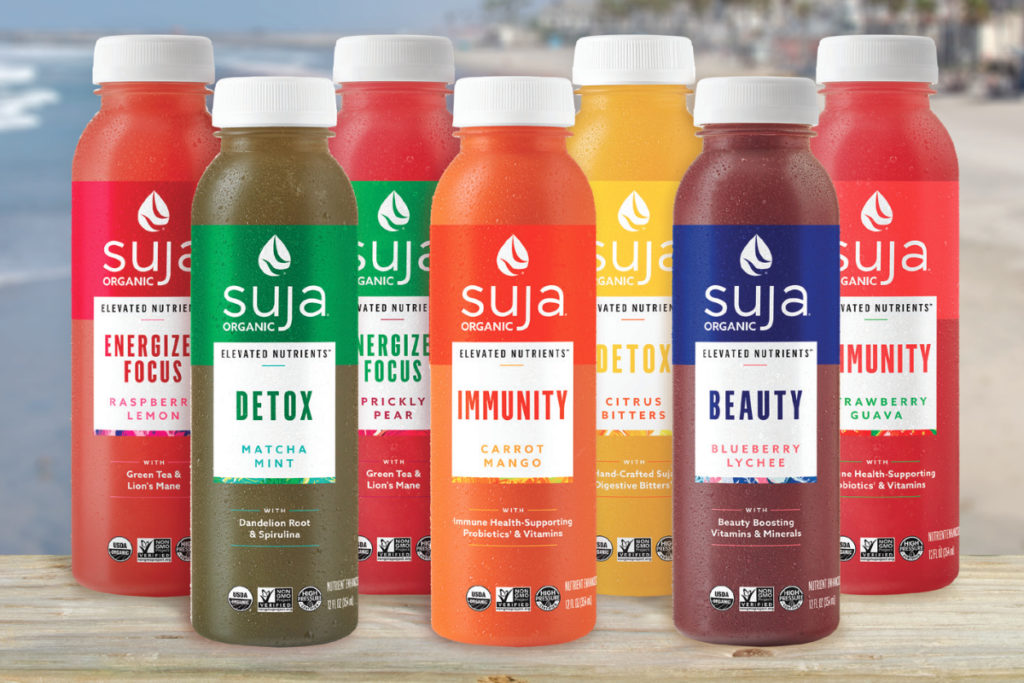 Image 1. 'Elevated Nutrients', new HPP beverages line of Suja. Source: Food Business News