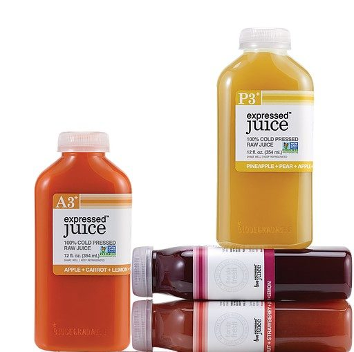 Botellas de ExpressedJuice con EcoClear