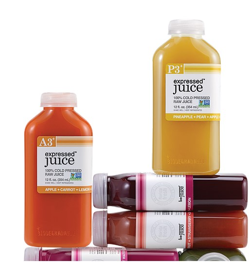 ExpressedJuice bottles with EcoClear