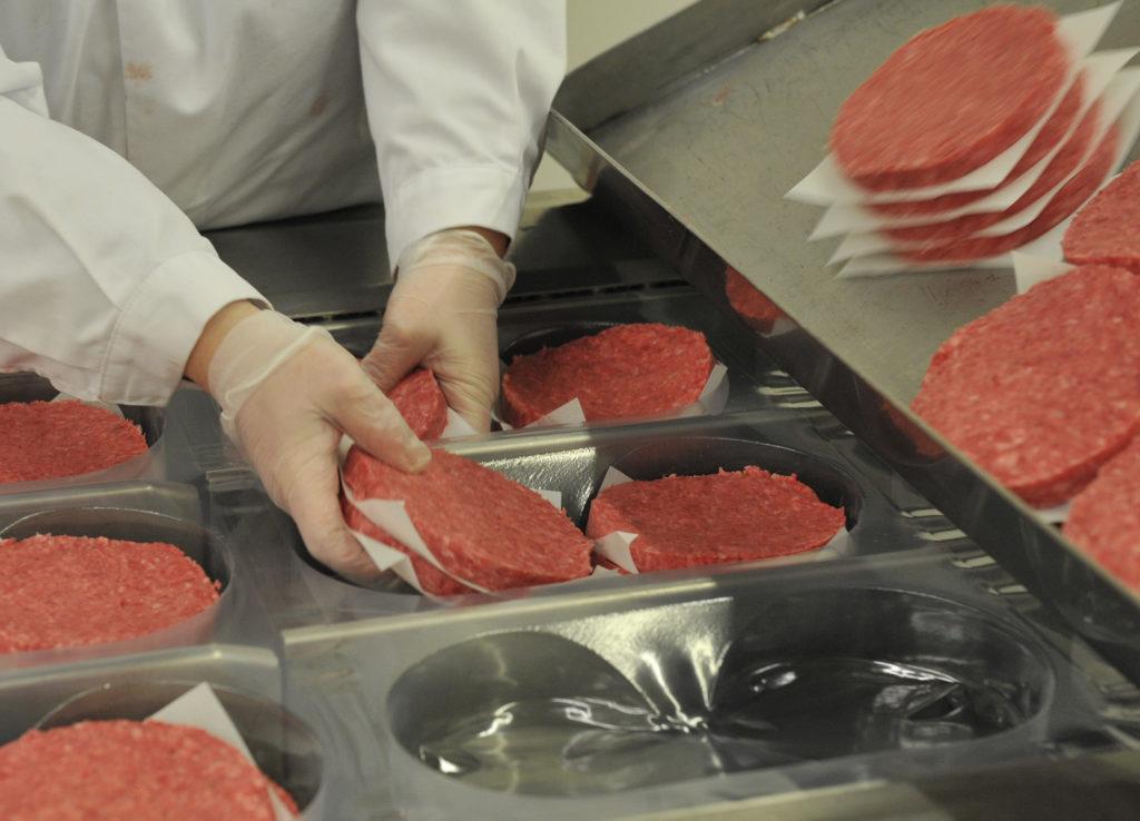 Figura 5. Línea de envasado de hamburguesas