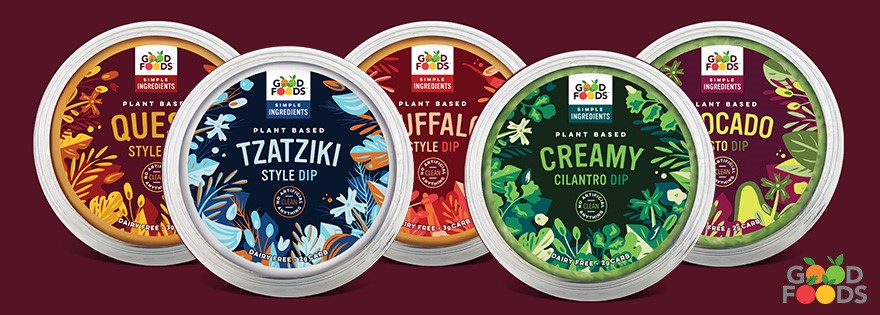 GoodFoods has a wide range of plant based dips