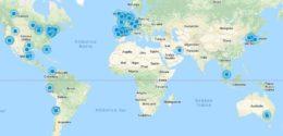 Mapa con todas las empresas de maquila HPP con equipos Hiperbaric