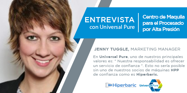 Entrevista con Jenny Tuggle, marketing manager en Universal Pure