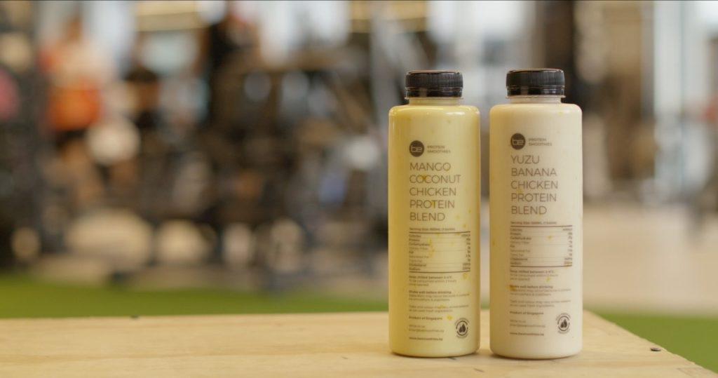 BE Protein Smoothies: Mezcla de Proteína de Pollo con Mango y Coco y Mezcla de Proteína de Pollo con Plátano Yuzu