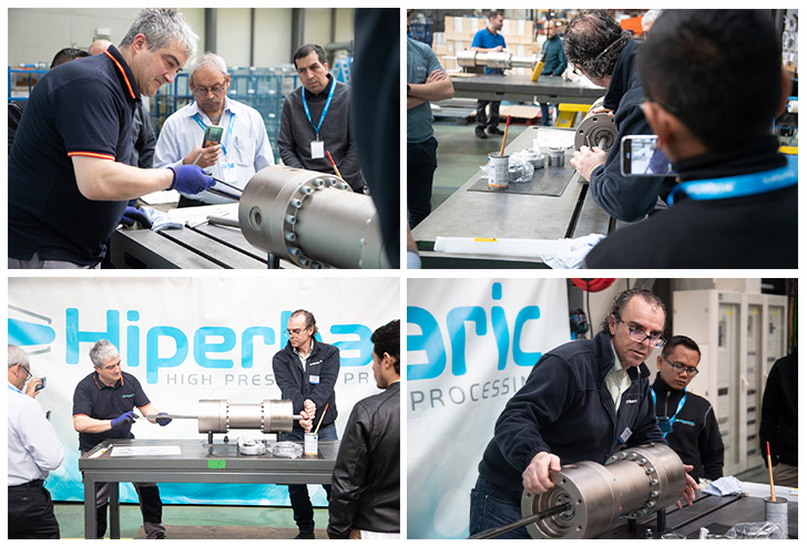 Hiperbaric's professionals show the main components of the HPP system to our customers' maintenance technicians.
