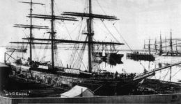 The Dunedin loading at Port Chalmers in 1882