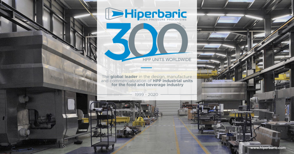 Hiperbaric installs its 300th HPP machine at Calavo Growers