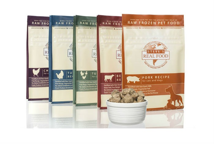 Alimentos para mascotas HPP de la compañia  Steve's Real Food