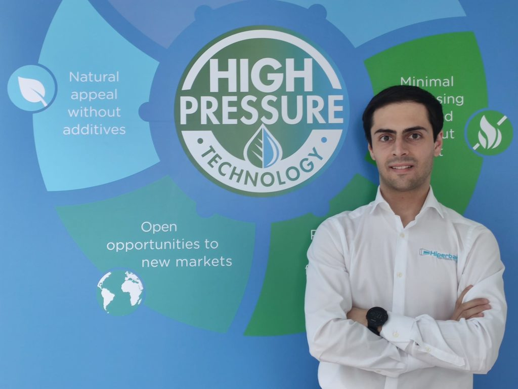 Image 2. Mario González, HPP Applications Specialist and PhD candidate at Hiperbaric