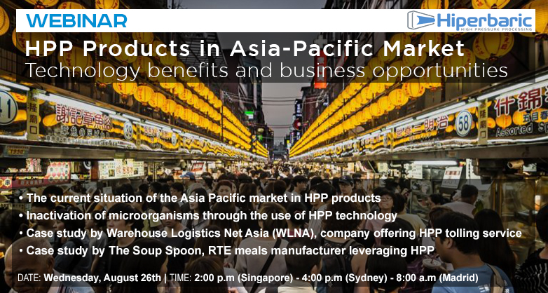 WEBINAR: HPP products in the Asia and Pacific market