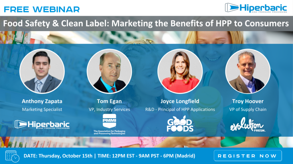 Food Safety & Clean Label: Marketing the Benefits of HPP to Consumers Webinar